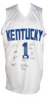 2021 Kentucky Wildcats Jersey Team-Signed by (11) with Bryce Hopkins, TyTy Washington, CJ Fredrick, Dontaie Allen, Davion Mintz, Kellan Grady, Daimion Collins, Lance Ware (Beckett COA) at PristineAuction.com