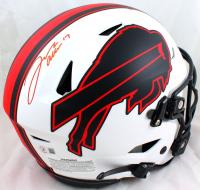 Josh Allen Signed Bills Full-Size Authentic On-Field Lunar Eclipse Alternate SpeedFlex Helmet (Beckett Hologram) at PristineAuction.com