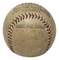 Babe Ruth Signed Official Junior League Baseball with Display Case (JSA LOA) at PristineAuction.com