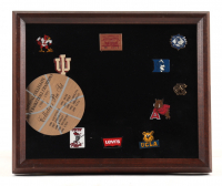 1995 Original NCAA Tournament 9x11 Custom Framed Collector's Pin Set Display with (10) Pins at PristineAuction.com