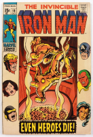 """1969 """"The Invincible Iron Man"""" Issue #18 Marvel Comic Book (See Description) at PristineAuction.com"""