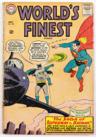 """1965 """"World's Finest"""" Issue #153 DC Comic Book (See Description) at PristineAuction.com"""