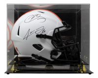 Odell Beckham & Jarvis Landry Signed Browns Full-Size Lunar Eclipse Alternate Speed Helmet with Display Case (Beckett COA) at PristineAuction.com