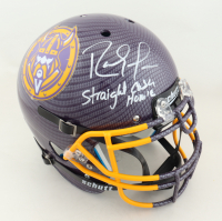 """Randy Moss Signed Full-Size Authentic On-Field Hydro Dipped Vengeance Helmet Inscribed """"Straight Cash Homie"""" (Beckett COA) at PristineAuction.com"""