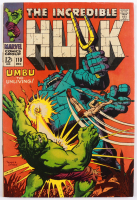 """1969 """"The Incredible Hulk"""" Issue #110 Marvel Comic Book at PristineAuction.com"""