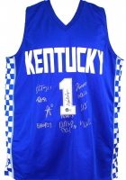 2021 Kentucky Wildcats Jersey Team-Signed by (12) with John Calipari, Daimion Collins, Tyty Washington, Davion Mintz (Beckett Hologram) at PristineAuction.com