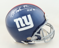 """Michael Strahan Signed Giants Full-Size Authentic On-Field Helmet Inscribed """"HOF 14"""" (JSA COA) at PristineAuction.com"""