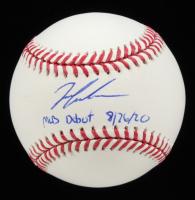 "Ian Anderson Signed OML Baseball Inscribed ""MLB Debut 8/26/20"" (JSA COA) at PristineAuction.com"