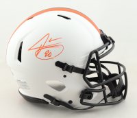 Jarvis Landry Signed Browns Full-Size Authentic On-Field Lunar Eclipse Alternate Speed Helmet (Beckett Hologram) (See Description) at PristineAuction.com