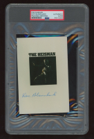 """Doc Blanchard Signed Vintage """"The Heisman"""" 4x6 Photo (PSA Encapsulated) at PristineAuction.com"""