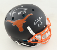 """Ricky Williams & Earl Campbell Signed Texas Longhorns Full-Size Authentic On-Field Matte Black Helmet Inscribed """"HT 98"""" & """"HT 77"""" (JSA COA) at PristineAuction.com"""