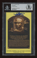 Harold Baines Signed Gold Hall of Fame Plaque Postcard (BGS Encapsulated) at PristineAuction.com
