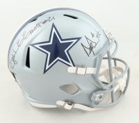 Dak Prescott & Ezekiel Elliott Signed Cowboys Full-Size Speed Helmet (Beckett COA) at PristineAuction.com