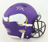Justin Jefferson Signed Vikings Full-Size Authentic On-Field Helmet (Beckett COA) (See Description) at PristineAuction.com