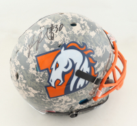 Phillip Lindsay Signed Full-Size Authentic On-Field Hydro-Dipped Helmet (JSA COA) at PristineAuction.com