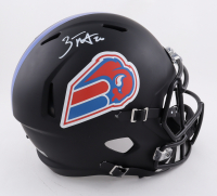 Zack Moss Signed Bills Full-Size Matte Black Speed Helmet (Beckett Hologram) at PristineAuction.com