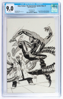 """2017 """"Peter Parker: The Spectacular Spider-Man"""" Issue #1 Little Shop of Comics Exclusive Joe Kubert B&W Variant Marvel Comic Book (CGC 9.0) at PristineAuction.com"""
