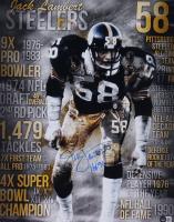 "Jack Lambert Signed Steelers 16x20 Photo Inscribed ""HOF '90"" (Beckett COA) at PristineAuction.com"