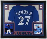 Vladimir Guerrero Jr. Signed 35.5x43.5 Custom Framed Jersey Display (Beckett Hologram) (See Description) at PristineAuction.com