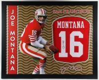 Joe Montana Signed 35.5x43.5 Custom Framed Jersey (JSA Hologram) at PristineAuction.com