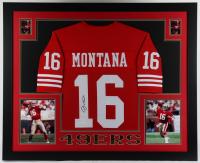 Joe Montana Signed 35.5x43.5 Custom Framed Jersey Display (JSA Hologram) at PristineAuction.com