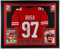 Nick Bosa Signed 35.5x43.5 Custom Framed Jersey Display (Beckett COA) at PristineAuction.com
