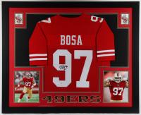 Nick Bosa Signed 35.5x43.5 Custom Framed Jersey Display (Beckett COA) (See Description) at PristineAuction.com