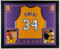 Shaquille O'Neal Signed 35.5x43.5 Custom Framed Jersey Display (Beckett Hologram) (See Description) at PristineAuction.com