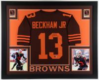 Odell Beckham Jr. Signed 35.5x43.5 Custom Framed Jersey Display (Beckett Hologram) at PristineAuction.com