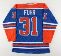 """Grant Fuhr Signed Jersey Inscribed """"5 SC Champ"""" (JSA Hologram) at PristineAuction.com"""