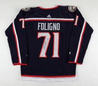 Nick Foligno Signed Blue Jackets Captain's Jersey (Beckett COA) at PristineAuction.com