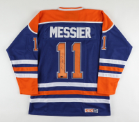 Mark Messier Signed Oilers Captain's Throwback Jersey (Steiner Hologram) at PristineAuction.com