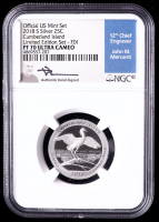 2018-S Cumberland Island, America the Beautiful Silver Quarter - From Limited Edition Silver Proof Set, First Day of Issue - Mercanti Signed Label (NGC PF70 Ultra Cameo) at PristineAuction.com