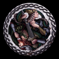 2019 Niue $1 The Legend of the Nibelungs 1 oz Pure Meteorite Proof Coin at PristineAuction.com