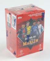 2020-21 Topps UEFA Champions League Merlin Blaster Box with (7) Packs (See Description) at PristineAuction.com