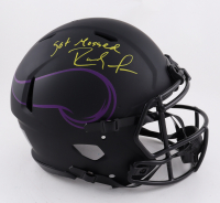 """Randy Moss Signed Vikings Full-Size Authentic On-Field Eclipse Alternate Speed Helmet Inscribed """"Got Mossed"""" (Beckett COA) at PristineAuction.com"""