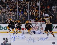 Bruins 16x20 Photo Signed By Patrice Bergeron, Brad Marchand, Johnny Boychuk & Tyler Seguin (Bergeron COA, Marchand COA, Boychuk COA, Seguin COA) at PristineAuction.com