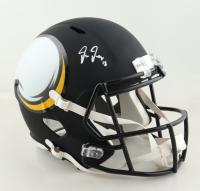 Justin Jefferson Signed Vikings Full-Size AMP Alternate Speed Helmet (Beckett Hologram) (See Description) at PristineAuction.com