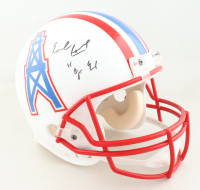 """Earl Campbell Signed Oilers Full-Size Authentic On-Field Helmet Inscribed """"H.O.F. 91"""" (JSA COA) at PristineAuction.com"""