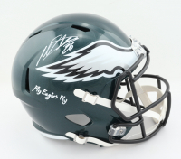 "Miles Sanders Signed Eagles Full-Size Speed Helmet Inscribed ""Fly Eagles Fly"" (JSA COA) at PristineAuction.com"