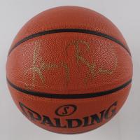 Larry Bird Signed NBA Never Flat Series Basketball (PSA COA) at PristineAuction.com