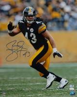 Troy Polamalu Signed Steelers 16x20 Photo (JSA COA & SportsMemorabilia Hologram) at PristineAuction.com