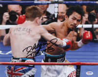 """Manny Pacquiao Signed 11x14 Photo Inscribed """"Pacman"""" (PSA COA) at PristineAuction.com"""