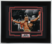 Mike Tyson Signed 18x22 Custom Framed Photo Display (Tyson Hologram) at PristineAuction.com