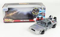 """Christopher Lloyd Signed """"Back to the Future II"""" DeLorean Time Machine 1:24 Scale Die-Cast Car With Original Packaging (Beckett Hologram) at PristineAuction.com"""