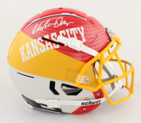 Christian Okoye Signed Full-Size Authentic On-Field Hydro Dipped F7 Helmet (PSA COA) at PristineAuction.com