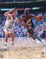 """Gary Payton Signed Supersonics 16x20 Photo Inscribed """"HOF 2013"""" (Beckett COA) (See Description) at PristineAuction.com"""