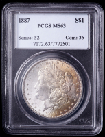 1887 Morgan Silver Dollar (PCGS MS63) (Toned) at PristineAuction.com