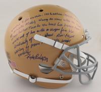 Rudy Ruettiger Signed Notre Dame Fighting Irish Full-Size Helmet with Extensive Inscription (Schwartz COA & Ruettiger Hologram) at PristineAuction.com