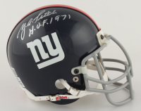 """Y.A. Tittle Signed Giants Mini-Helmet Inscribed """"H.O.F. 1971"""" (Beckett COA) at PristineAuction.com"""